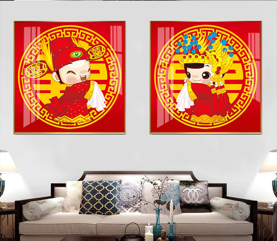 轻奢晶瓷装饰画 中国风 ·系列
